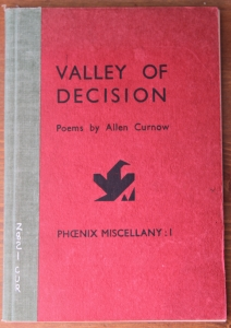 Allen Curnow Valley of Decision